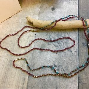 "Jewelry - Long 60"" multi color mix beads boho necklace"